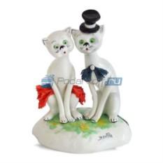 Статуэтка из фарфора Кошки, пара