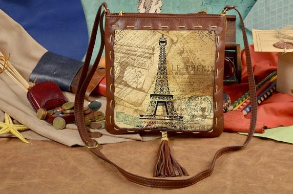 Сумка-планшет с принтом Открытка из Франции