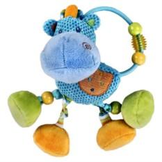 Мягкая игрушка-погремушка Бегемотик