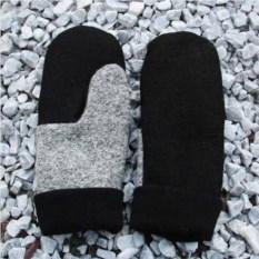 Черно-серые варежки Friend Function
