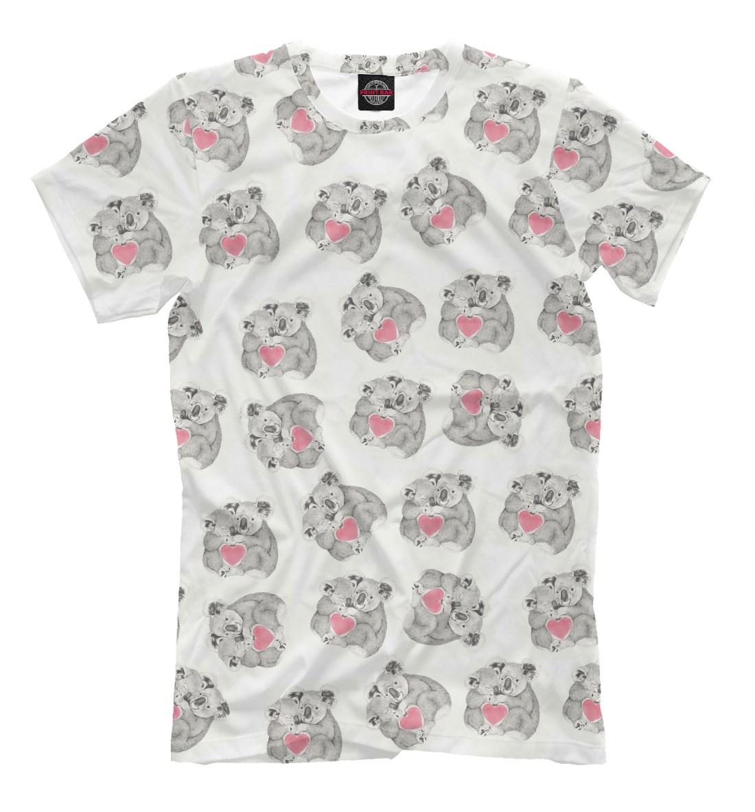 Мужская футболка Влюбленные коалы