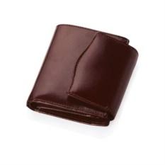 Коричневое кожаное портмоне с отделениями для кредитных карт