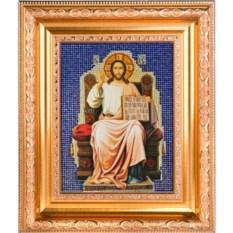 Икона с кристаллами Спаситель