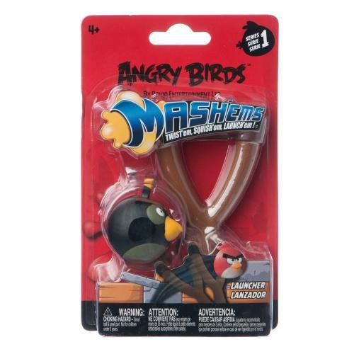 Игровой набор Angry Birds (рогатка и черная птица)