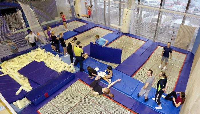 Сертификат Занятия на батутах в центре Flydiving