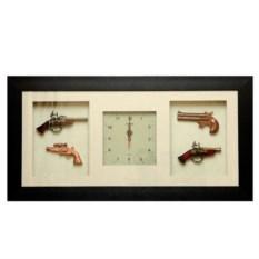 Часы-коллаж с пистолетами