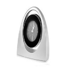 Серебристые настольные часы