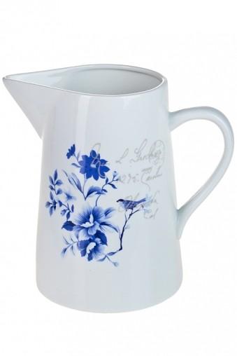 Ваза для цветов Синие цветы