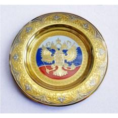 Сувенирная тарелка Триколор