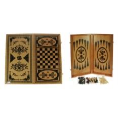 Настольная игра Нарды и шахматы, размер 48 х 24 см