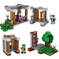 Комплект из 4 конструкторов Lele Minecraft