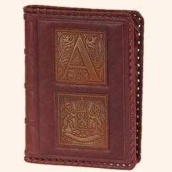 Кожаный коричневый ежедневник