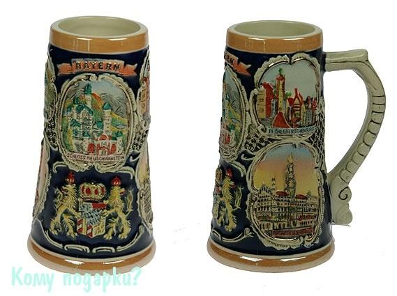 Пивная кружка коллекционная «Замки Баварии»
