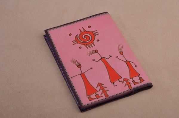 Обложка для автодокументов. Коллекция Altamira (розовый; тип 3; нат. кожа)