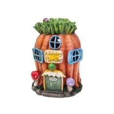 Садовая фигурка с фонарем Морковный домик