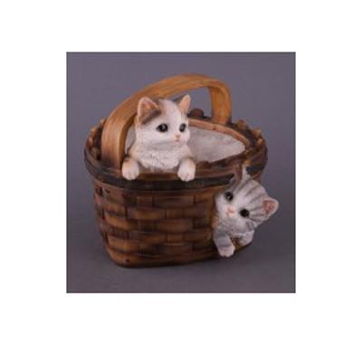 Кашпо «Корзина с котятами»