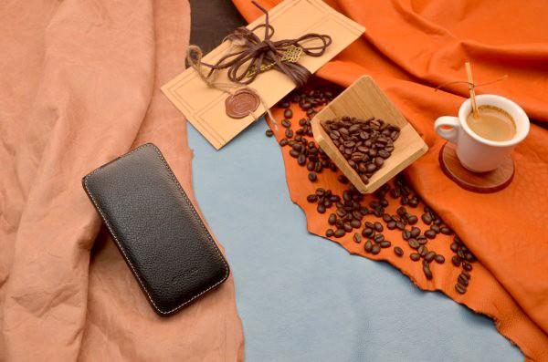 Кожаный чехол MELKCO для iPhone 6 «Черная наппа»