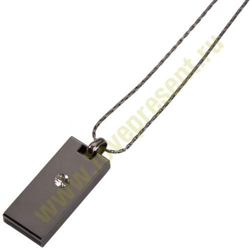 Флешка «Кулон» на 8 Гб, (темный металл)