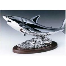Подарочная статуэтка на подставке Акула