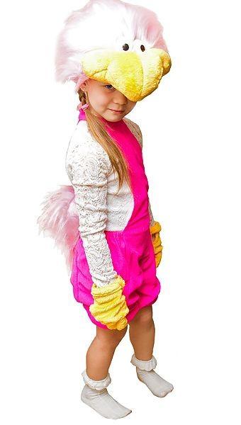Карнавальный костюм Розовый страус, от 6 лет