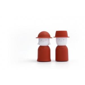 Красная солонка и перечница Mr. Pepper & Mrs. Salt