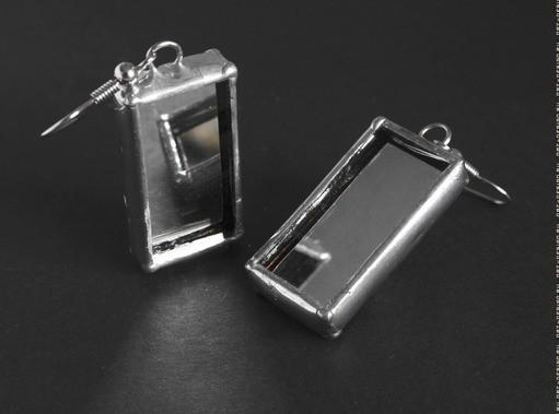 Серьги прямоугольные Зеркала (пара)