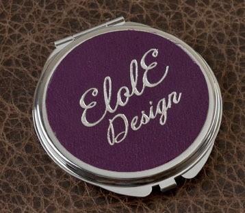 Карманное зеркальце, коллекция Elole Design (фиолетовый, тип 2)