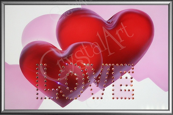Картина с кристаллами Swarovski Love