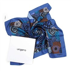 Женский платок-косынка с оригинальными цветами Ungaro