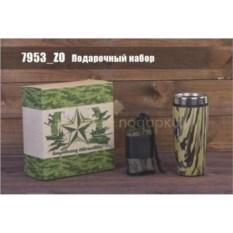 Подарочный набор с термостаканом и полотенцем «Камуфляж»