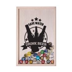 Копилка для пивных крышек Save water, drink beer