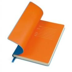 Голубой бизнес-блокнот А5 Funky с цветным форзацем