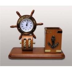 Офисный набор с часами Штурвал
