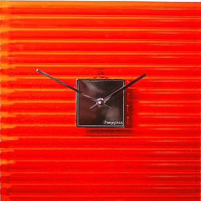 Настенные часы «Красный квадрат»