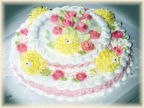 Двухъярусный торт своими руками фото