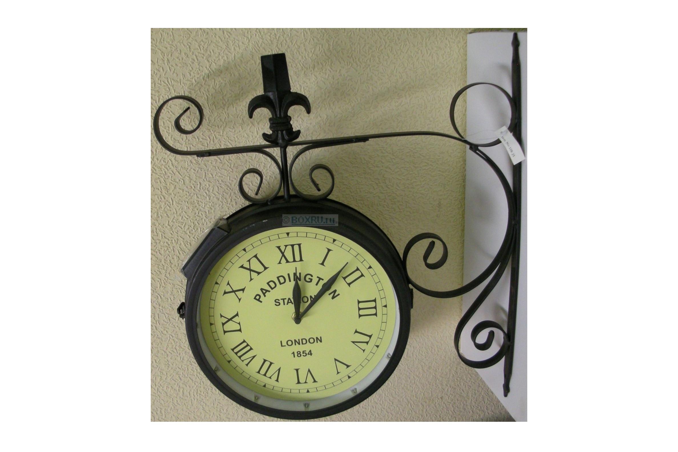 Часы на кронштейне круглые