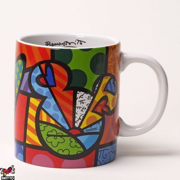 Керамическая кружка Britto Disney Peace & Love Mickey Mouse