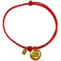 Позолоченный браслет с надписью Чувствовать