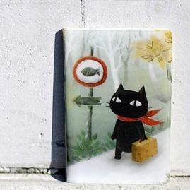 Держатель для карточек «Muffler Cat on a journey»