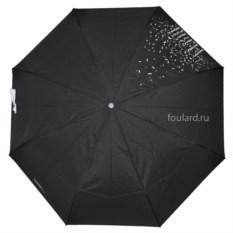 Черный зонт с белыми каплями Ferre Milano