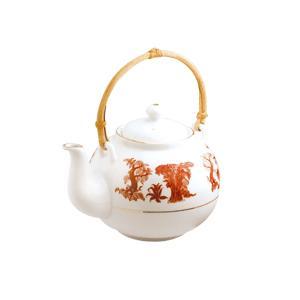 Чай черный в чайнике с бамбуковой ручкой (цветной)