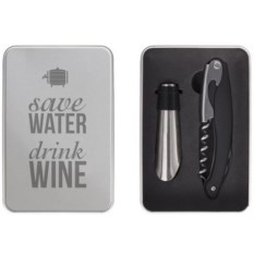 Набор для вина Save water, drink wine