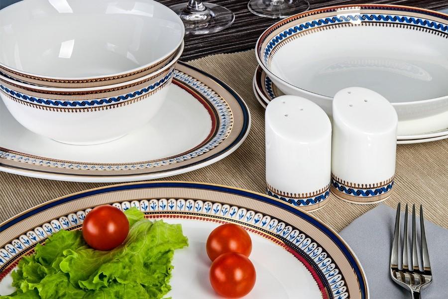 Фарфоровый столовый сервиз на 27 предметов Неаполь