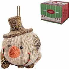 Статуэтка Снеговик в шляпе
