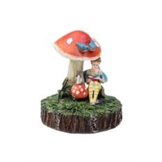 Садовая фигурка с фонарем Фея под грибочком