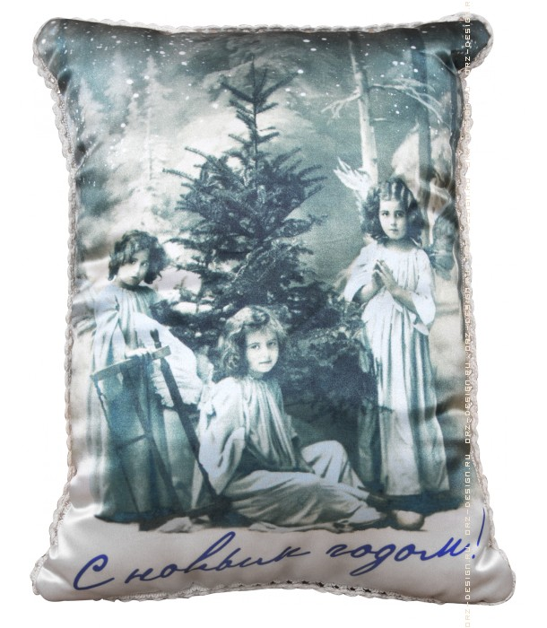 Подушка-открытка С Новым Годом!