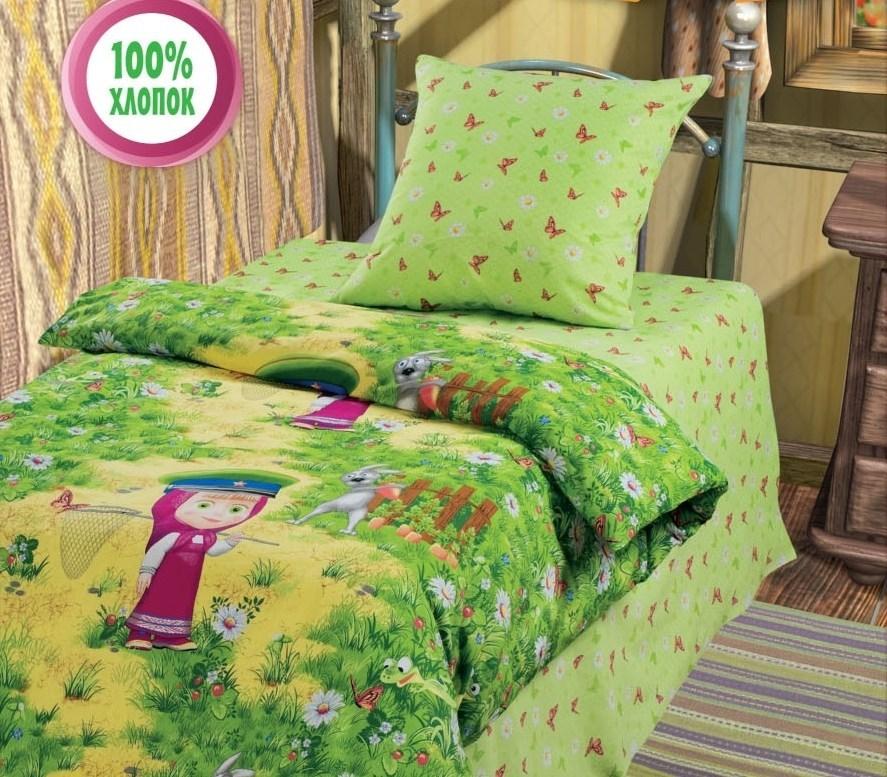 Комплект детского постельного белья Маша и Медведь