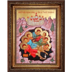 Икона на холсте Семь  спящих отроков Эфесских
