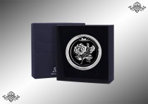 Серебряная закладка для книг с лазерным логотипом (Цветок)