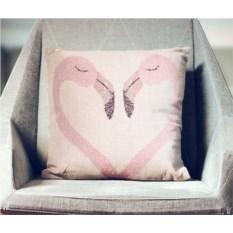 Декоративная наволочка Фламинго